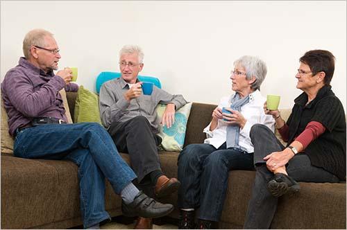 Seniors conversing