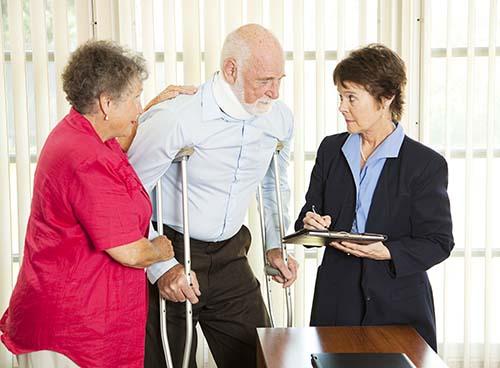 Seniors getting legal advice