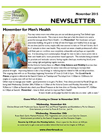 Silver Threads November 2015 Newsletter