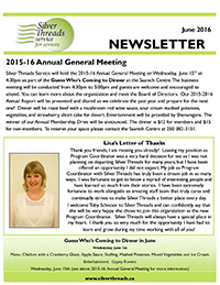 Silver Threads June 2016 Newsletter