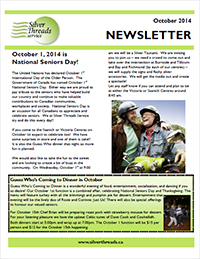 Silver Threads October 2014 Newsletter