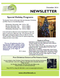 Silver Threads December 2014 Newsletter