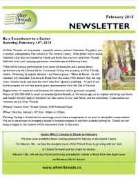 Silver Threads February 2015 Newsletter