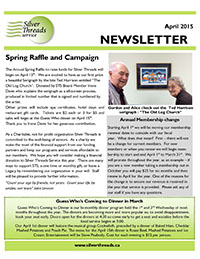 Silver Threads April 2015 Newsletter
