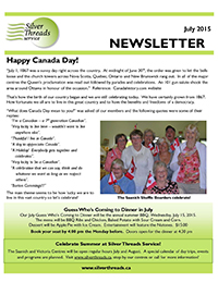 Silver Threads July 2015 Newsletter