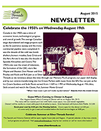 Silver Threads August 2015 Newsletter