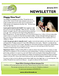 Silver Threads January 2015 Newsletter
