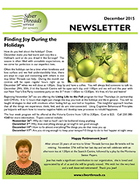 Silver Threads December 2015 Newsletter