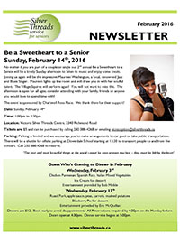 Silver Threads February 2016 Newsletter