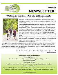 Silver Threads May 2016 Newsletter