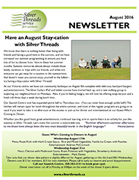 Silver Threads August 2016 Newsletter