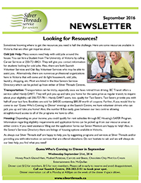 Silver Threads September 2016 Newsletter