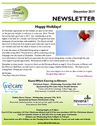 Silver Threads December 2017 Newsletter