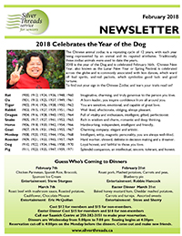 Silver Threads February 2018 Newsletter