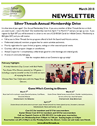Silver Threads March 2018 Newsletter
