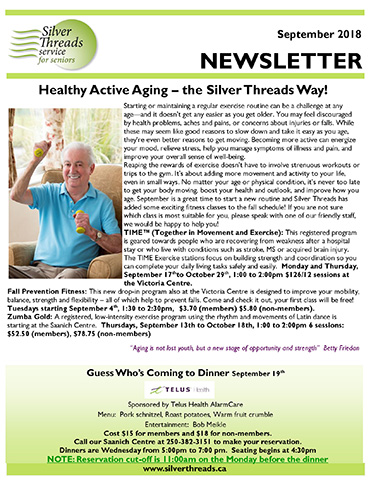 Silver Threads Newsletter