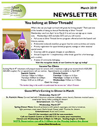 Silver Threads March 2019 Newsletter