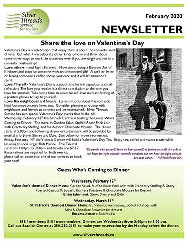 Silver Threads February 2020 Newsletter