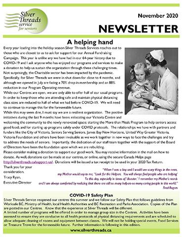 Silver Threads November 2020 Newsletter