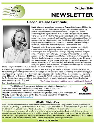 Silver Threads August 2020 Newsletter