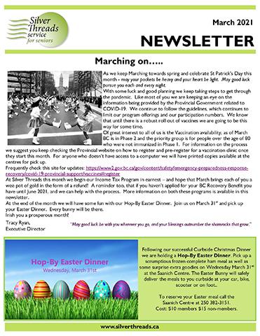 Silver Threads February 2021 Newsletter