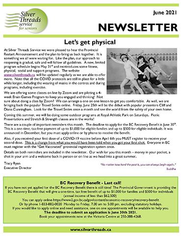 Silver Threads June 2021 Newsletter